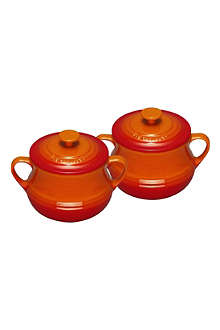 LE CREUSET Stoneware pair of bean pots