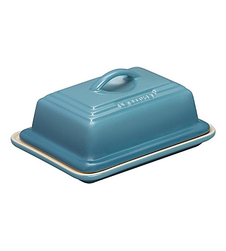 LE CREUSET Stoneware butter dish (Teal