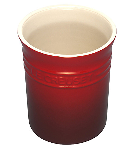LE CREUSET Utensil jar (Cerise