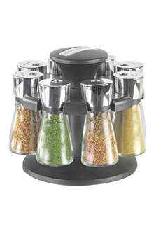 COLE & MASON Hudson Herb & Spice Filled Eight-Jar carousel