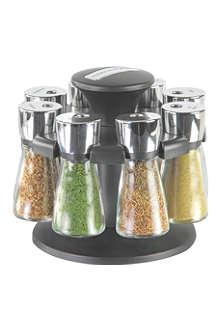 COLE & MASON Hudson Herb & Spice Filled Eight-Jar carousel