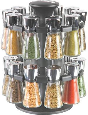 COLE & MASON Hudson Herb & Spice Filled 20-Jar carousel