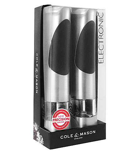 COLE & MASON Richmond electronic mill gift set