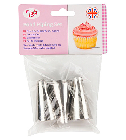 TALA Food piping and decorating nozzles set of three
