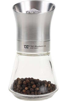 T&G WOODWARE CrushGrind stainless steel pepper mill