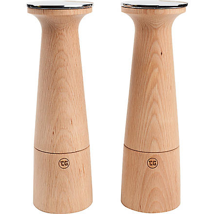 T&G WOODWARE Oblique beech pepper mill
