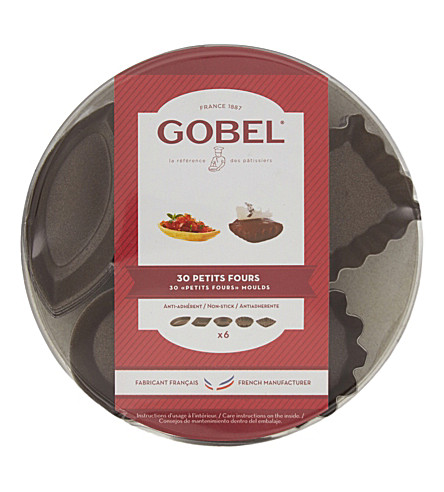 GOBEL Petits fours moulds set of 30