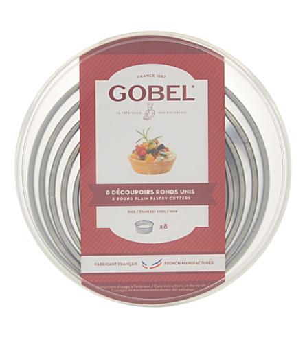 GOBEL 圆素色糕点刀套装八