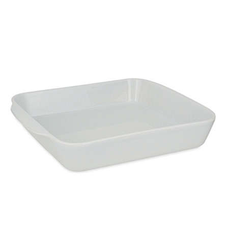 PILLIVUYT Extra large square porcelain baking dish No 4 28cm