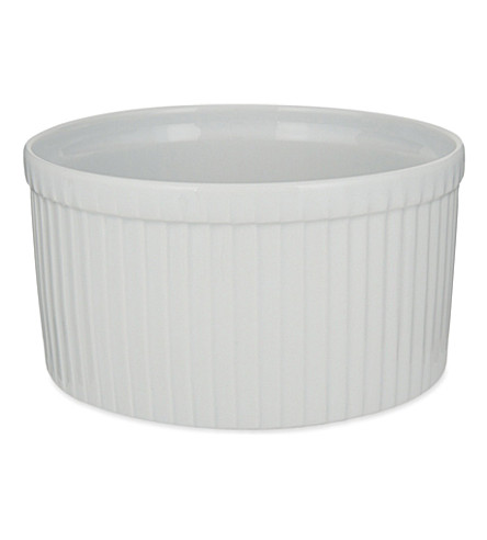 PILLIVUYT Deep classic pleated porcelain soufflé dish 10cm