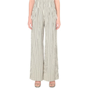 Eloise stretch-cotton wide-leg trousers