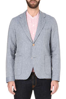 OLIVER SPENCER Single-breasted Oxford jacket