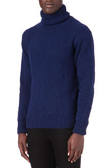 OLIVER SPENCER Roll neck knitted jumper