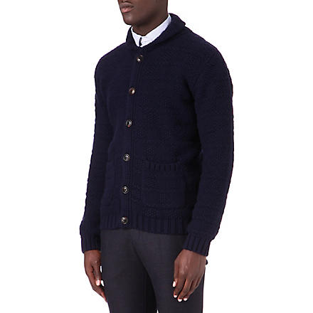 OLIVER SPENCER Newton knitted cardigan (Navy