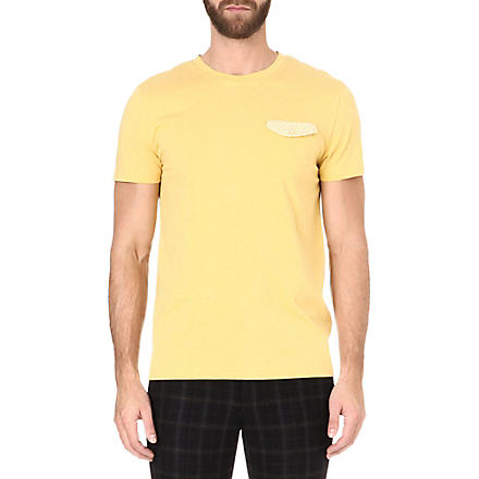 OLIVER SPENCER Pocket t-shirt (Yellow