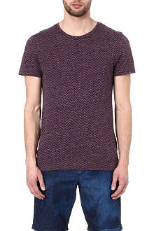 OLIVER SPENCER Zig-zag t-shirt