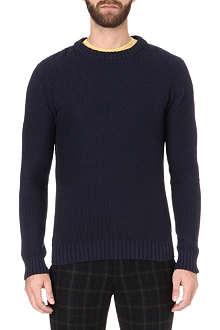 OLIVER SPENCER Textured crew neck jumper