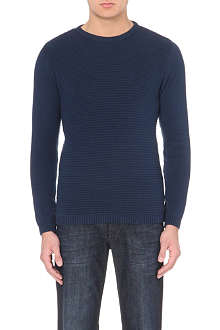 OLIVER SPENCER Ribbed crew-neck jumper