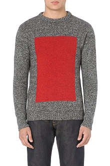 OLIVER SPENCER Rectangle contrast knit jumper