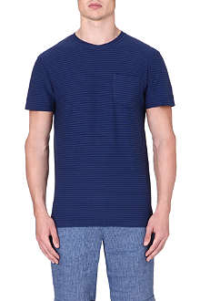 OLIVER SPENCER Striped pocket t-shirt