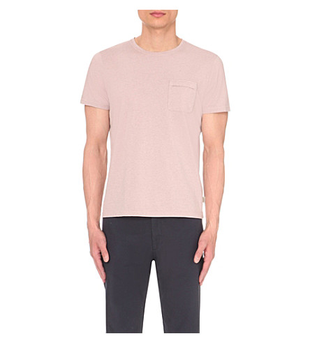 OLIVER SPENCER Envelope cotton-jersey t-shirt (Pink