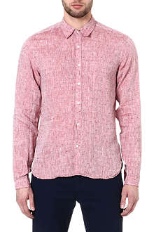 OLIVER SPENCER Jacquard pocket shirt
