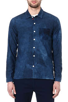 OLIVER SPENCER Bleached denim shirt