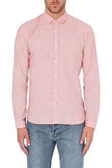 OLIVER SPENCER Broadstone fine-striped cotton shirt