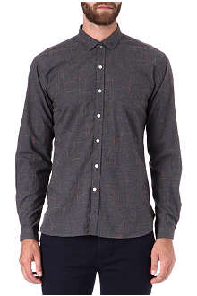 OLIVER SPENCER Clerkenwell flecked cotton shirt