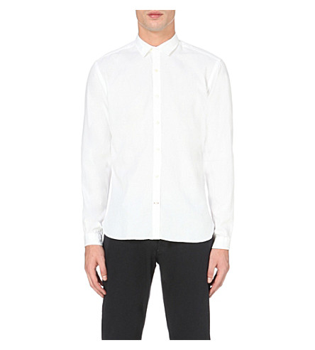 OLIVER SPENCER Clerkenwell regular-fit cotton shirt (Astley+white