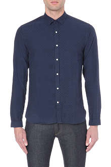 OLIVER SPENCER Clerkenwell tab-collar shirt