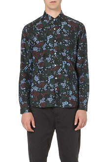 OLIVER SPENCER Floral penny-collar cotton shirt