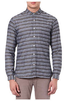 OLIVER SPENCER Penny-collar striped shirt