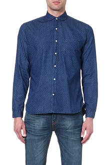 OLIVER SPENCER Penny-collar Oxford shirt