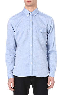 OLIVER SPENCER Button-down chambray shirt