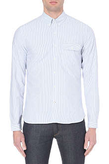 OLIVER SPENCER Dormesby striped cotton shirt
