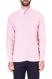 OLIVER SPENCER Button-down linen shirt