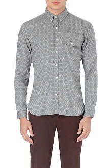 OLIVER SPENCER Patterned cotton shirt