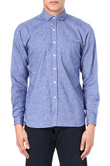 OLIVER SPENCER Chambray tab shirt