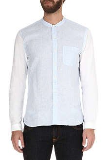 OLIVER SPENCER Linen grandad shirt