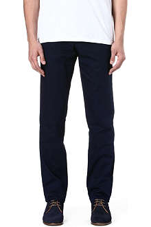 OLIVER SPENCER Fishtail regular-fit mid-rise tapered trousers