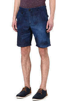 OLIVER SPENCER Bleached denim shorts
