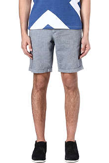 OLIVER SPENCER Chambray skinny shorts