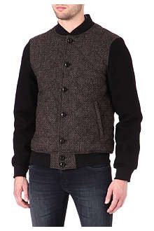 HARRIS TWEED Birdseye bomber jacket