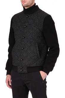 HARRIS TWEED Quilted bomber jacket