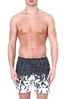 ORLEBAR BROWN Bulldog feather-print swim shorts