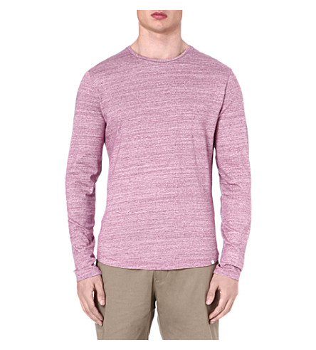 ORLEBAR BROWN Perry cotton-marl top (Magenta