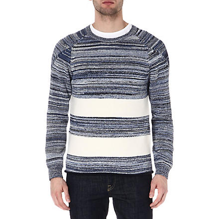 FOLK Stripe jumper (Blue / ecru