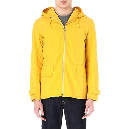 BARBOUR Hooded cotton jacket (Yellow