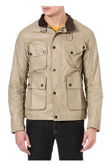 BARBOUR Helton coated linen jacket